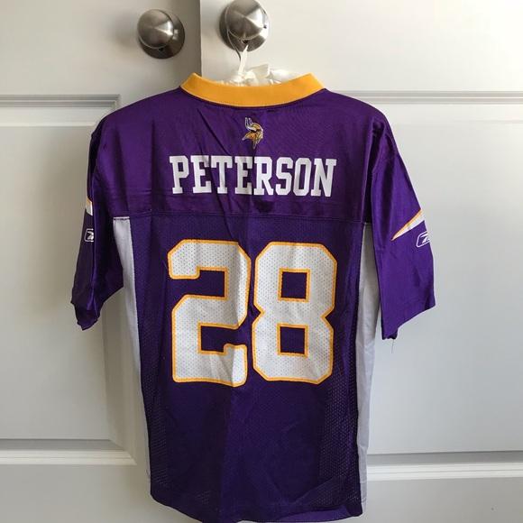 40ea2e150d1 Reebok Shirts & Tops | Kids Peterson Minnesota Vikings Nfl Jersey ...